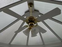 ceiling fan & light