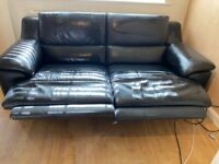 2/3 leather reclining sofa