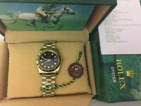 New Swiss Men's Rolex Oyster Datejust Perpetual Automatic Watch, Golden case