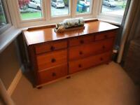 Large wooden chest of drawers