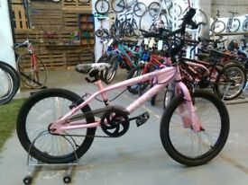 GIRLS AVIGO DULCIS BMX BIKE 20 INCH WHEELS PINK 360 GYRO GOOD CONDITION