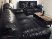 Leather 3&2 Sofas / nearly new / can deliver