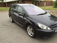 2005 Peugeot 307 estate 2.0 hdi fully loaded with Panaromic roof 12 months mot and 3 months warranty