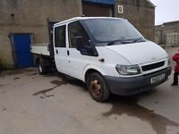 Ford transit crewcab tipper twin wheeler