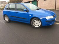 55 PLATE FIAT STILO 1.4 PETROL--6 SPEED GEARBOX-- LONG MOT__ ONE OWNER FROM NEW -- GOOD CONDITION