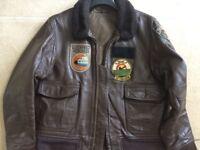 USN Leather Flying Jacket