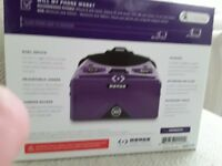 Merge virtual reality goggles for sale. Purple in colour. Never used