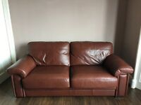 Excellent condition 2 X 2 seater leather sofas