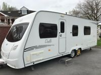 LUNAR DELTA RS 2009 TWIN AXLE 4 BERTH FIXED DOUBLE BED WALK BEHIND WASHROOM AIR CONDITIONING