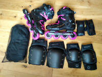 ✪ ✪ ✪ Roller Blades with Pads - Like New - PURPLE SEBAS!