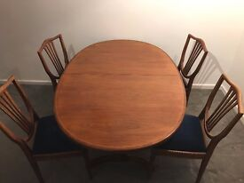 Dining table and 4 upholstered chairs - 1620 x 1060 mm