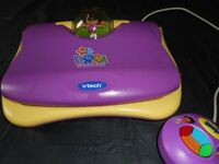 V.Tech Dora the Explorer Fun educational laptop with mouse - Very good condition