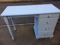 Student Desk. Solid Oak. Four drawers . 105cm x 44cm x73cm high.