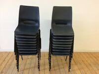 18 Plastic stackable chairs - £20 for the lot