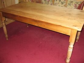 Antique Victorian Pine Dining Table
