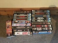James Bond 007 VHS Video collection Sean Connery Rare Warner editions not DVD