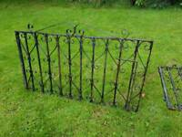 Double 4ft wrought iron driveway gates