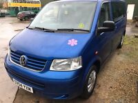 2005 VW T5 TRANSPORTER SHUTTLE 9 SEATER MINI BUS NEEDS TLC