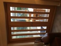 Oak and glass panel Internal Double Doors For Sale