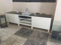 High gloss white sideboard