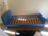 Blue childs bedframe