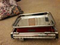 Vintage Tower Red Balance Beam Kitchen Scales