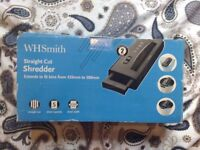 Barely used WH Smith paper shredder
