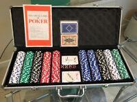 CQ Poker 500 HIGH ROLLER Numbered Poker Chips + Case, Cards, Dice, Dealer Button Set