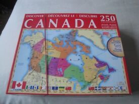 Jigsaw Puzzle all about CANADA with poster - 250 x pieces and complete