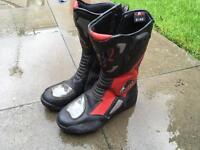 Motorbike Boots UK 8. Good Condition. Akito, Rst Alpinestars Style