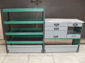 FORD TRANSIT STORAGE CABINET UNIT WITH DRAWERS