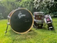 5 Piece Gretsch Catalina Elite Mahogany drum kit with Premier snare, Paiste cymbals, and hardware