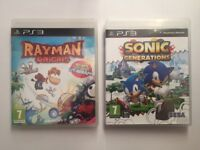 Rayman Origins and New Sonic Generations Ps3 Games