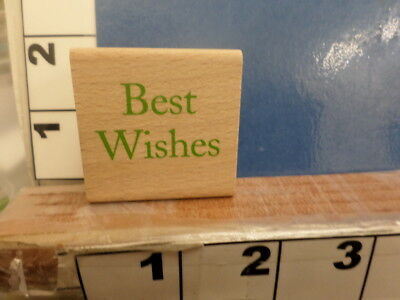Best Wishes saying wedding christmas greeting     RUBBER STAMP