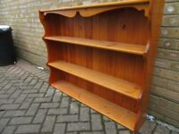 Pine shelving unit - wall mounted or dresser top. Very good condition - £15 - Collection only