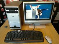 """PC dual core 3ghz 2gb computer with 19"""" monitor/tv"""
