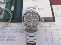 genuine rolex seadweller complete with box papers