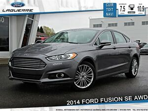 2014 Ford Fusion **SE*AWD*CUIR*TOIT*NAVI *CAMERA*A/C 2 ZONES**
