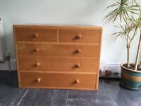 Solid oak chest of drawers - SOLD