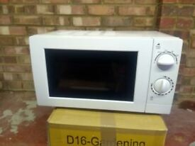 George Home Manual 17l White Microwave with original box - £10