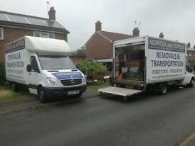 NORFOLK & SUFFOLK MAN & VAN REMOVALS TRANSPORT BECCLES BUNGAY LOWESTOFT HALESWORTH HARLESTON LODDON