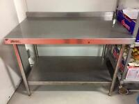 3 used stainless steel kitchen benches for sale