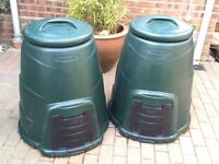 """Two """"begreen"""" 220 litre Composters (will sell singly or as a pair), green colour"""
