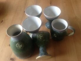 Celtic tumblers and matching carafe