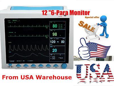 Big Sale Contec 12.1 Multi Parameter Patient Monitor Spo2 Pr Ecg Nibp Resp Temp