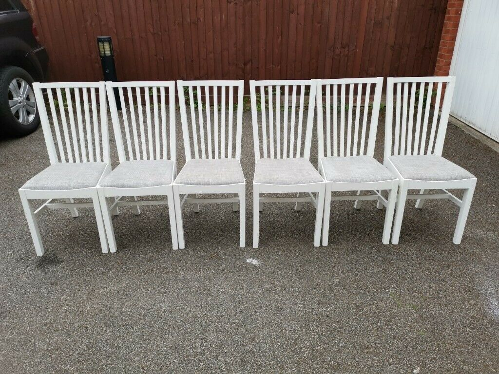 Strange 6 Ikea Norrnas White Chairs Free Delivery 465 In Leicester Leicestershire Gumtree Pdpeps Interior Chair Design Pdpepsorg