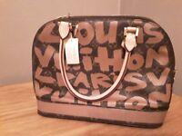 Louis Vuitton Alma style graffiti bag