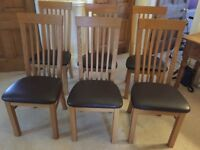 Set of six high-back dining chairs