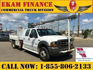 2005 Ford F-550 Crew Cab, Dump Box, 16Ft Venturo  ET18KX Boom Cr