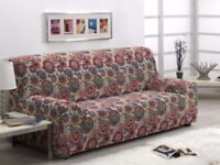 Sofa covers x 2, multicoloured 3 seater 180 to 240 cm - funky pattern!